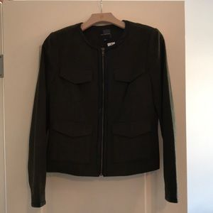 The Limited hunter wool and leather trim jacket